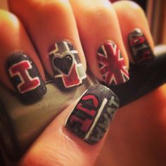 One Direction Nails Where We Are Tour. #wherewearetour #1Dconcertnails #OneDirection #1D @nailsbyamyb #nailsbyamyb #love1Direction #1Dnails
