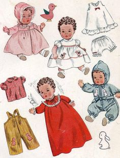 Vintage Doll Clothes PATTERN 3406 for 12 inch by BlondiesSpot, $9.99