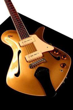 2005 Myka Sungazer Goldtop Semi-hollow Electric Guitar #beautifulguitars