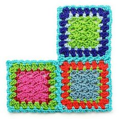 Flat Braid Join How-to: A cool way to join granny squares... and probably much faster than sewing!