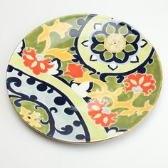 I pinned this Wharton Vine Plate in Moss from the Jill Rosenwald event at Joss and Main!