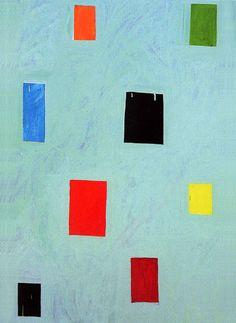 """Mary Heilmann """"311 Castro """" 2001 Öl auf Leinwand 137 x 91 cm"""