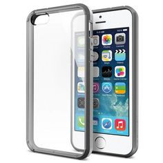 Trendy Brief Design Transparent Case Cover For iPhone 5 5S SE