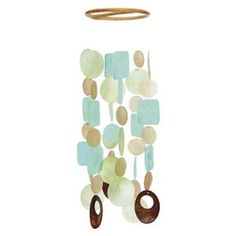 Medium - multi-shaped and colorful - Capiz Shell Wind Chime - Indoor/Outdoor - Handmade