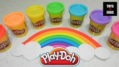 Play Doh How to make a Perfect Rainbow with clouds easy!  What we need to make a rainbow with clouds?  7 colors for rainbow: red, orange, yellow, green, blue, indigo, and violet!   And white dough for clouds!  With Play Doh, unleash your creativity. We create educational how to tutorials that is fun for the whole family. It is Great Way To Have Fun With Kids and Develop Creativity !