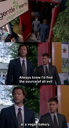 Maybe that's why all the vegans hate supernatural fans. Lol  jk. I love all of you fandom members.