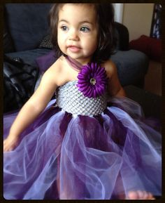 Purple white and silver tutu dress with by FrillyGiraffeDesigns, $50.00