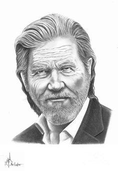 Jeff Bridges by Murphy Elliott ~ traditional pencil art