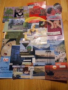 Make a vision board for the year