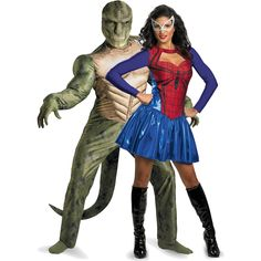 Spider Girl & Lizard Couples Costume Spiderman Movie, Amazing Spiderman, Superhero Couples Costumes, Spider Girl, Anime Costumes, Party Planning, Things To Think About, Wonder Woman, Cosplay