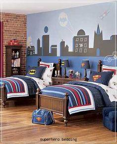 superhero bedroom @Ashlea Tegman Tegman Badgett