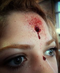 Bullet wound, special fx makeup by Anna Leidy Jacobsson