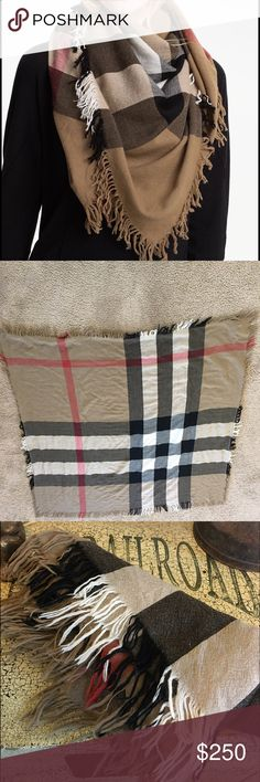 Authentic Burberry Merino Scarf 100% Authentic Burberry scarf. 100% merino wool. Perfect with any outfit. Scarf is in great condition but does have a handful of light snags since it's a fairly thin wool. Burberry Accessories Scarves & Wraps