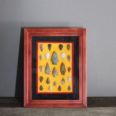 Framed Indian Arrowhead Collection