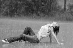 Love the rain on my skin