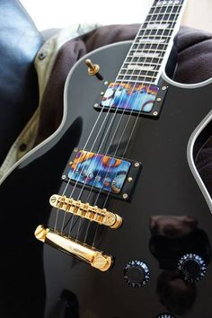 ESP Eclipse with Bare Knuckle Burnt Chrome Rebel Yell pickups... What a beautiful instrument...