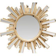 Sunburst Mirror with Inlaid Ray