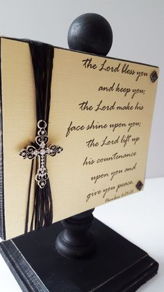 Woodblock Signs/ Religious Gifts/ Scripture by SilverHopeDesigns