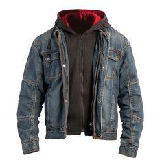 I love old school denim jackets