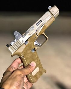 Another picture of the Glock worked over and comped! ・・・ The Glock Urban Package from - Custom Glock, Custom Guns, 45 Caliber Pistol, Glock Mods, Agency Arms, Gun Art, Assault Rifle, Cool Guns, Guns And Ammo