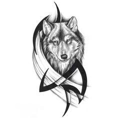 Tatuaggio lupo tribale 05