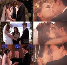 Creds to @othxox love this edit! Oth weddings Naley Leyton Brulian