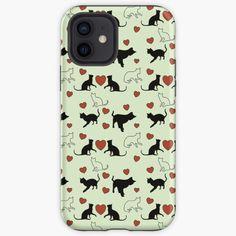 Muster für Katzenbesitzer und Katzenliebhaber mit kleinen Kätzchen und Herz. Über so ein Geschenk freut sich jeder Katzenfreund. Iphone Case Covers, Gifts For Cat Lovers, Heart, Patterns