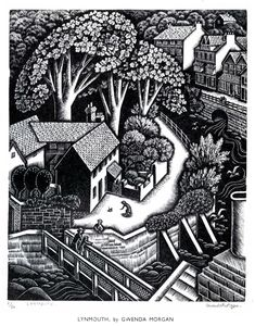 Gwenda Morgan, wood engraving