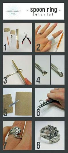 Sterling Silverware ring tutorial - also would make great napkin rings!