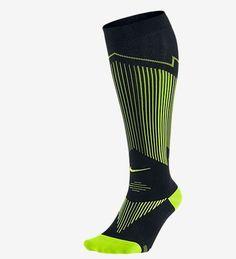 Nike Dri-FIT Elite Compression OTC Running Socks Mens shoe size 8-9.5 Black #Nike #Athletic