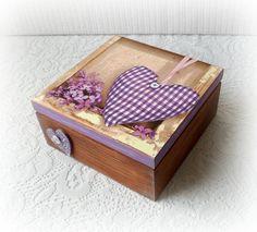 Scatola da tè in legno portagioie scatola di CarmenHandCrafts