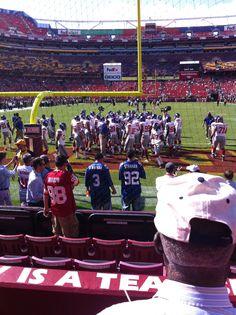 FedEx Field - Giants vs. Washington.  September 11, 2011