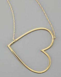 Jennifer Zeuner Integrated Heart Pendant Necklace - Neiman Marcus
