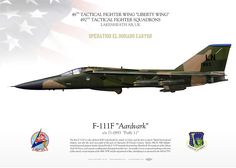 """UNITED STATES AIR FORCE48TH TACTICAL FIGHTER WING """"LIBERTY WING""""492ND TACTICAL FIGHTER SQUADRONSLAKENHEATH AB, UK Operation El Dorado Canyon"""