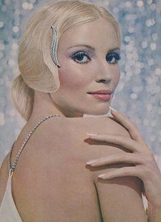 1971 Revlon Make-up Ad Super Crystalline's Frosted Nail Polish Advertising Beautiful Blonde Woman Beauty Photo Print Bathroom Salon Wall Art