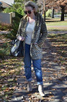 weekend cool - leopard coat