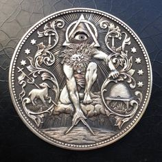 【The most popular collectors】Eye of God on Morgan Silver Dollar,coin,coin - www. Custom Coins, Mask Girl, Hobo Nickel, Dollar Coin, World Coins, Morgan Silver Dollar, Russian Art, Silver Coins, Dibujo