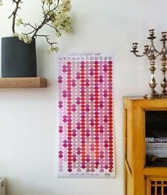 This yearly planner adds pizzaz and organization to your life. From designer Miriam Bereson, featured on Design Sponge.