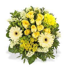 Sommerfreude - Ein sommerlich leuchtender Strauß der garantiert für gute Laune sorgt! #Valentins #Blumen #Geschenke #Deko