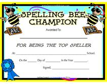 Teachers can recognize the top spelling bee champion of a Spelling Bee Challenge by giving the winner a printable spelling bee award. Bee Certificate, Blank Certificate Template, Award Template, Printable Certificates, Award Certificates, Program Template, Classroom Behavior, Montessori Classroom, Classroom Ideas