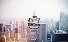 I am strong motivational quote Free HD Wallpaper