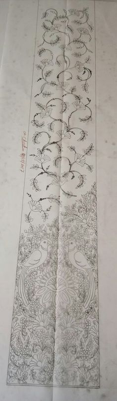 Hand Embroidery Patterns Free, Diy Embroidery Kit, Border Embroidery Designs, Couture Embroidery, Embroidery Motifs, Flower Pattern Drawing, Corset Sewing Pattern, Apple Wallpaper, Pattern Design