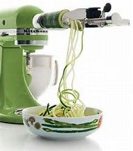 The Kitchenaid Spiralizer Attachment - one of the highest ranked and most used mixer attachments.