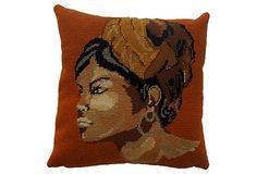 Gauguin Needlepoint Pillow on OneKingsLane.com