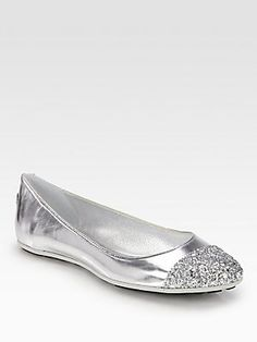 Jimmy Choo Whirl Glitter Mirror Leather Ballet Flats. WOW for only $516 USD I can have these!