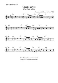 alto saxophone sheet music | ... (What Child Is This), free alto saxophone sheet music notes