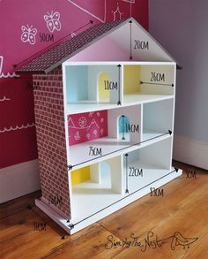 Doll House Plan For Barbie Admirable Diy Casa Bonecas Dollhouse And Barbie Furniture, Dollhouse Furniture, Kids Furniture, Corner Furniture, Bedroom Furniture, Doll House Plans, Homemade Dolls, Homemade Barbie House, Barbie Doll House