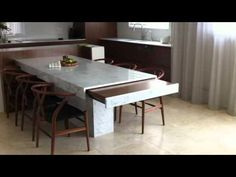 It doesn't have to remote controlled. Just get the mechanism and table top. ▶ Remote controlled extension table - Minosa kitchen design - YouTube