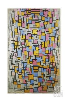 Composition, 1916 Giclee Print by Piet Mondrian at Art.com