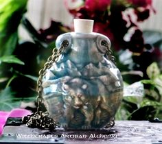 Old European Master Crafted Magical Arts™ Magical Jewelry, Bottle Necklace, Oil Bottle, Ceramic Beads, Alchemy, Christmas Bulbs, Artisan, Vase, Bear